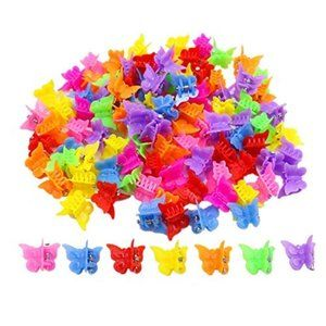 100 Pack Butterfly Hair Clips